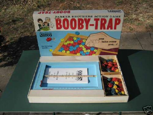 Earliest Parker Brothers Booby-Trap Game