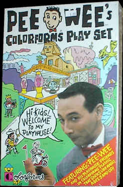 Pee Wee's Playhouse Colorforms