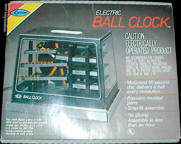 Electric Ball Clock by Arrow Box