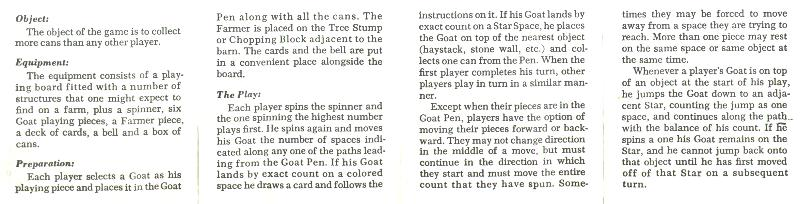 Hey Pa! There's a Goat on the Roof by Parker Brothers, instructions page 1