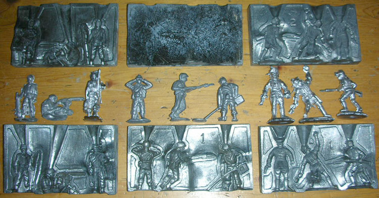 Lead Casting Set soldier molds