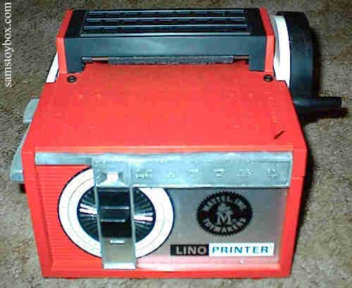 Mattel Linoprinter itself