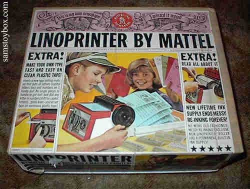 Mattel Linoprinter box