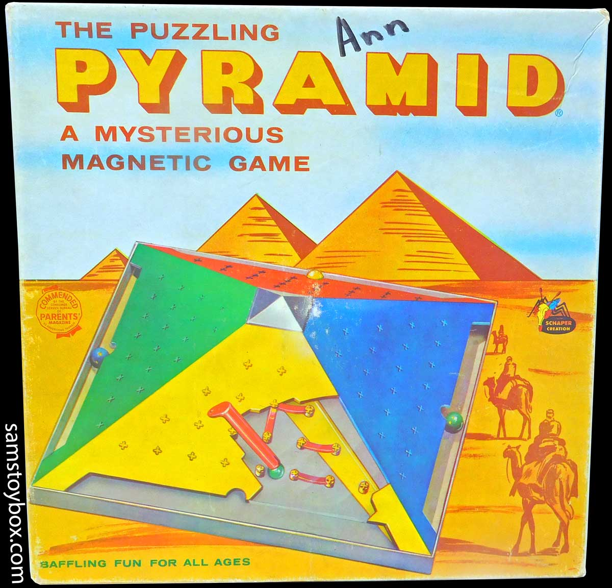 Puzzling Pyramid Game By Schaper Sam S Toybox