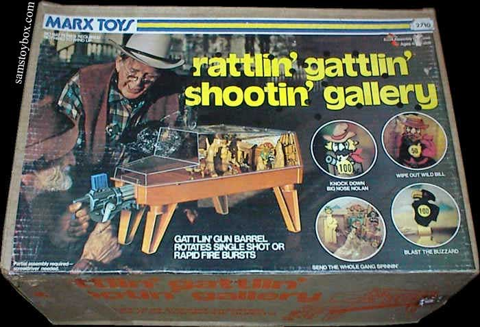 Marx Rattlin' Gattlin' Shootin' Gallery box