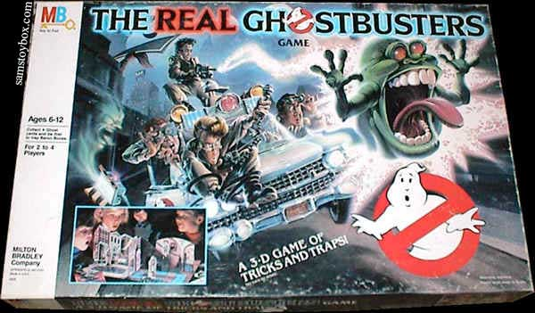 The Real Ghostbusters Game by Milton Bradley