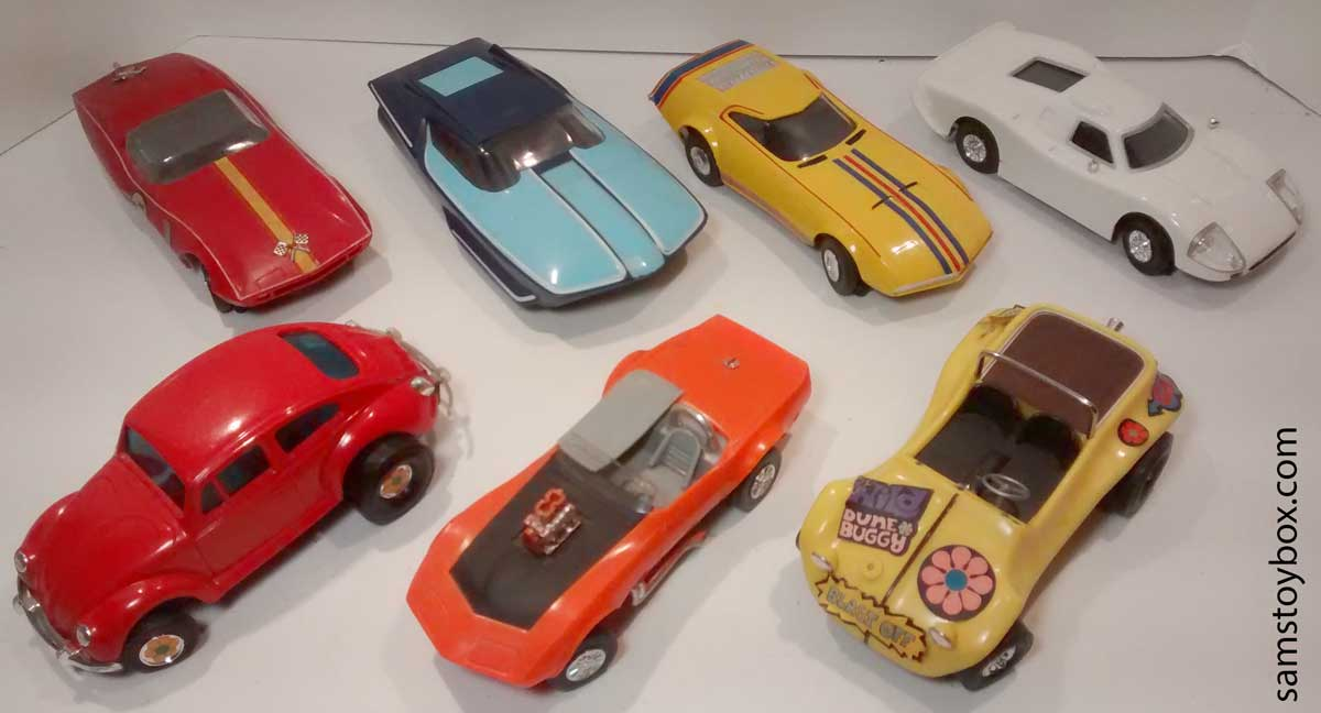 Amaze-A-Matics Cars, all except the Mustang